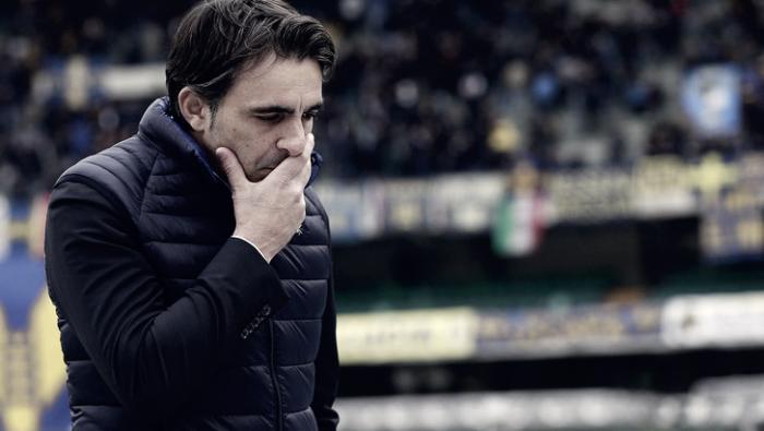"""Hellas Verona, Pecchia soddisfatto: """"Vittoria che vale tantissimo. Frosinone? Pensiamo a noi"""""""