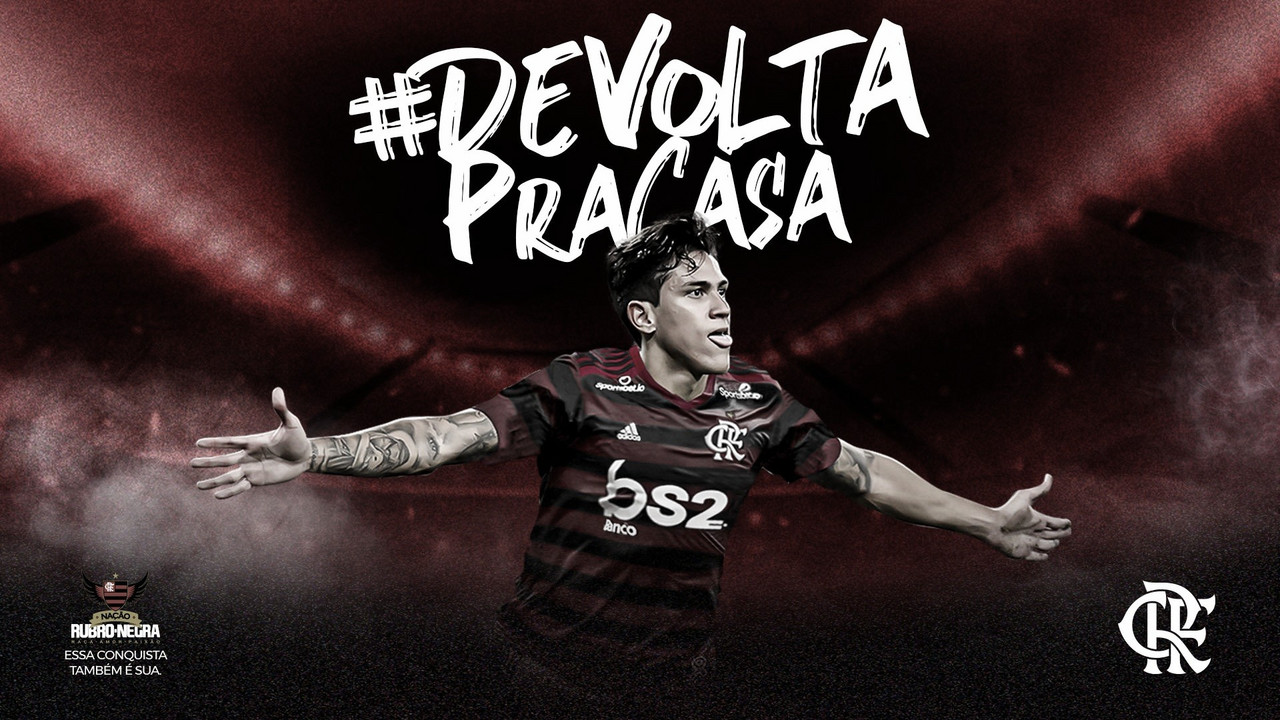De volta para casa: Flamengo anuncia atacante Pedro