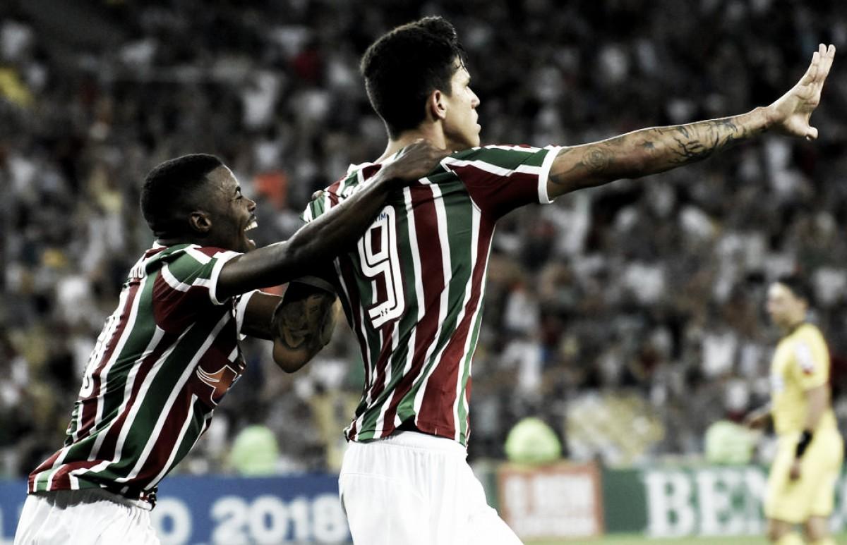 Pedro aprova empate do Flu e comemora gol no fim: ''Não era uma bola fácil''