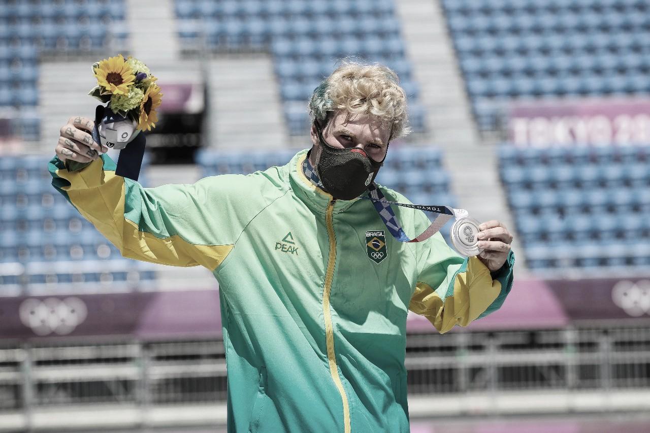 Pedro Barros conquista medalha de prata no skate park em Tokyo 2020