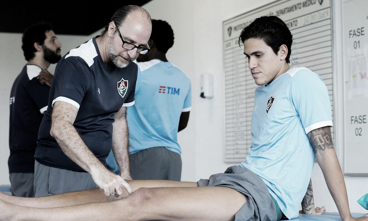 Pedro vai para o CT do Fluminense e inicia nova etapa do tratamento da lesão