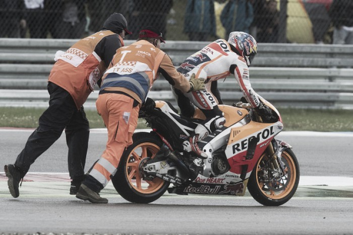Disappointment for Dani Pedrosa as he suffers another crash