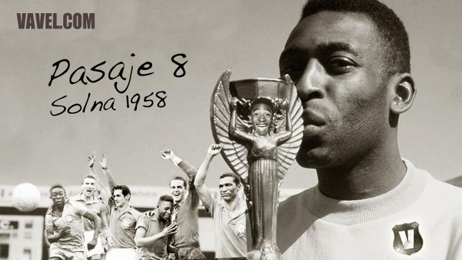 Pasaje 8: Solna, 28 de junio  de 1958, la firma de Pelé