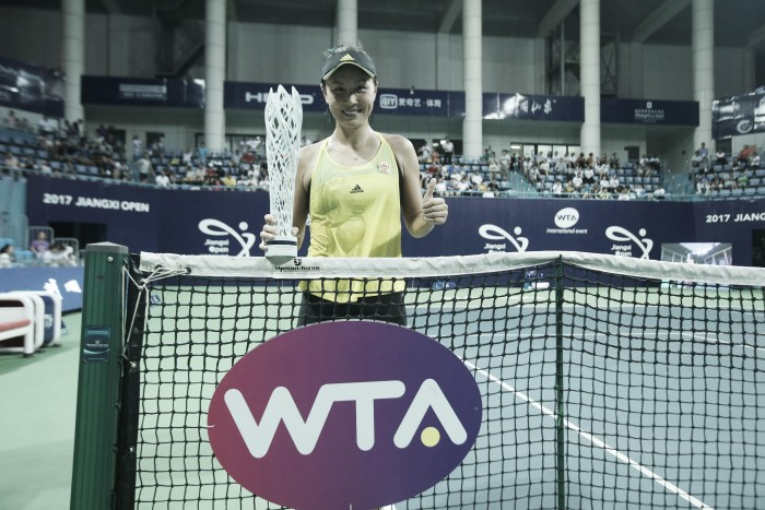WTA Nanchang: Peng Shuai strolls to clinch her second WTA title in straight sets