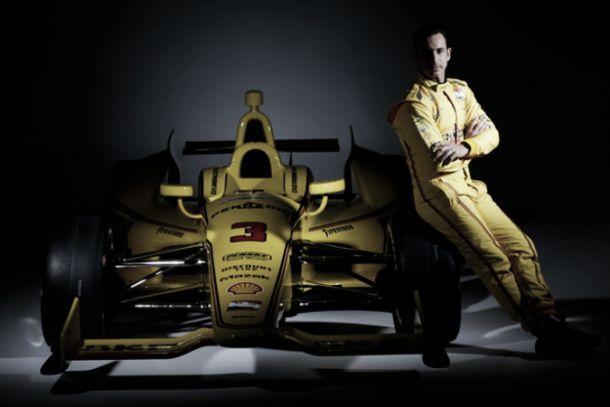 Penske revela layout amarelo retrô do carro de Castroneves para disputa da Indy 500