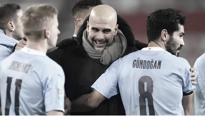 Guardiola exalta classificação do Manchester City e elogia Neymar