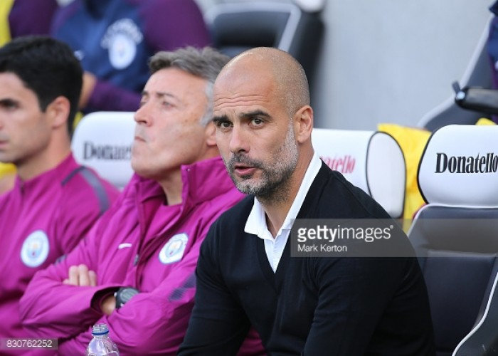Guardiola says he's not moved by talk that Man City are favourites