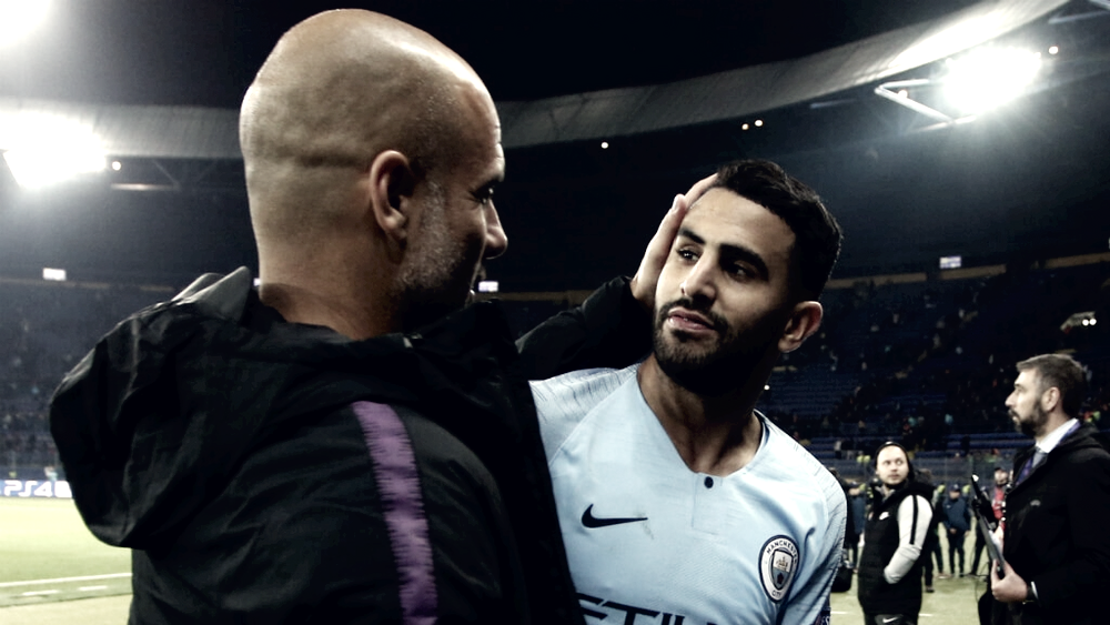 "Guardiola: ""Estoy orgulloso de la fuerza mental de Mahrez"""