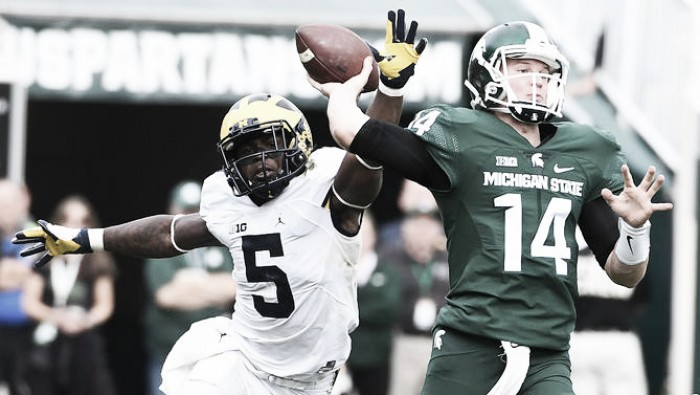 Jabrill Peppers improves Heisman chances as#2 Michigan Wolverines defeat rival Michigan State Spartans 32-23