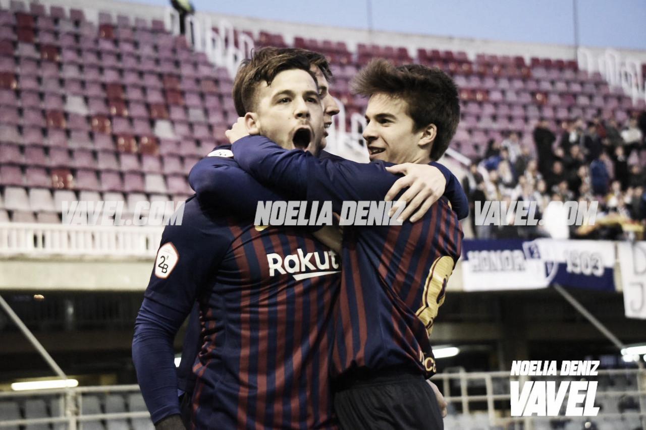 El FC Barcelona B golea y se mantiene en la lucha por el ascenso (5-1)