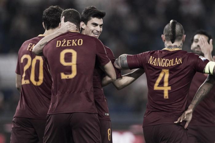 Com Perotti e Dzeko inspirados, Roma bate Pescara e diminui vantagem para Juventus