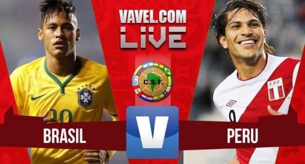 Resultado Brasil - Perú en Eliminatorias 2015 (3-0)