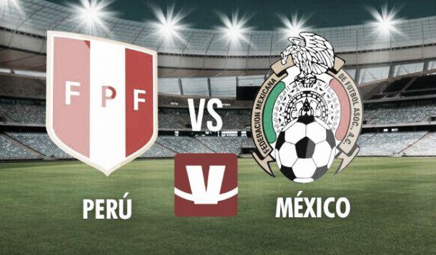 Resultado Perú - México en Amistoso (1-1)