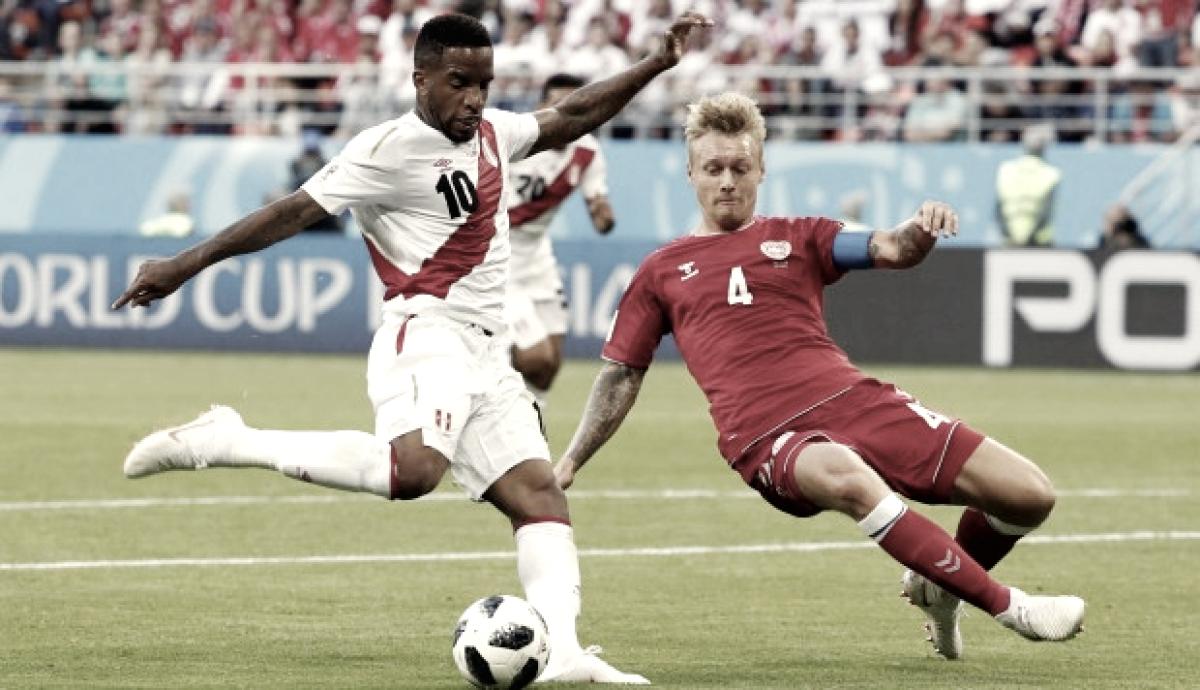 Perú domina, Dinamarca gana