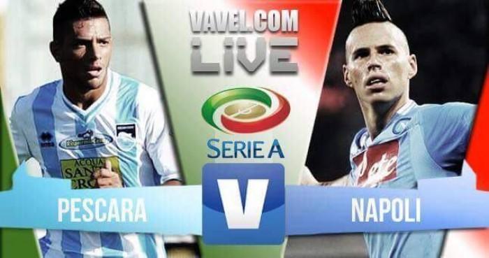 Pescara - Napoli, Serie A 2016/2017 (2-2): sblocca Benali, poi Caprari. Accorcia e pareggia Mertens
