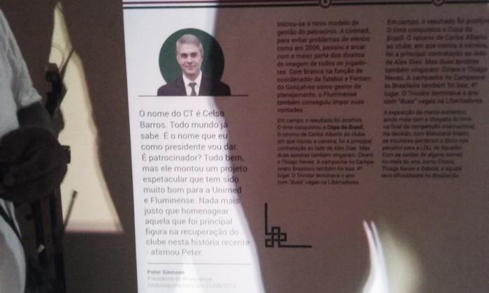 Banner em evento de Celso Barros conta com depoimento de jogadores