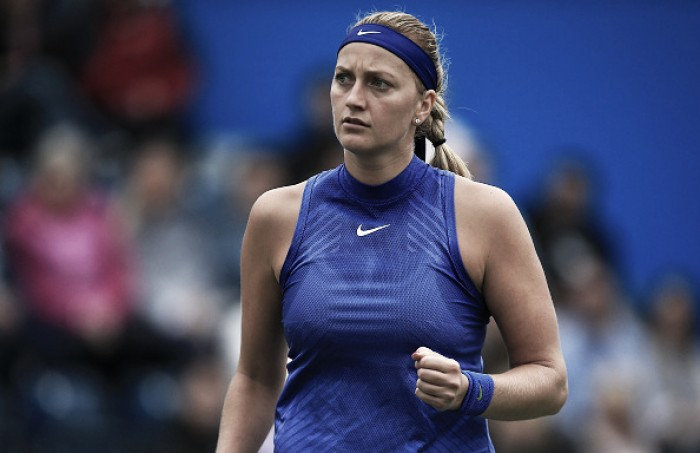 Kvitova reaches her first grass final since Wimbledon 2014