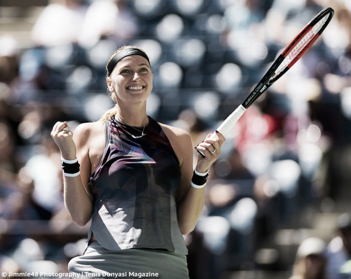 Kvitova downs Muguruza to reach quarter-finals