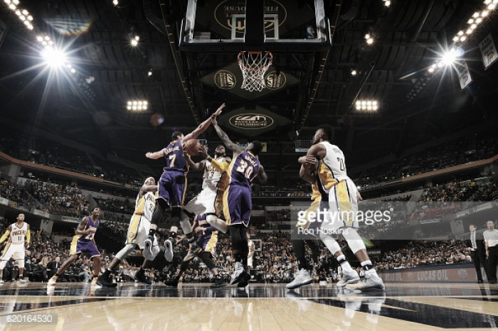 Los Angeles Lakers fall to the Indiana Pacers, 108-115