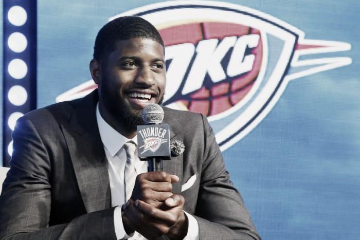 """NBA, Paul George ai Thunder: """"Un'occasione per vincere. Del futuro parleremo tra un anno"""""""