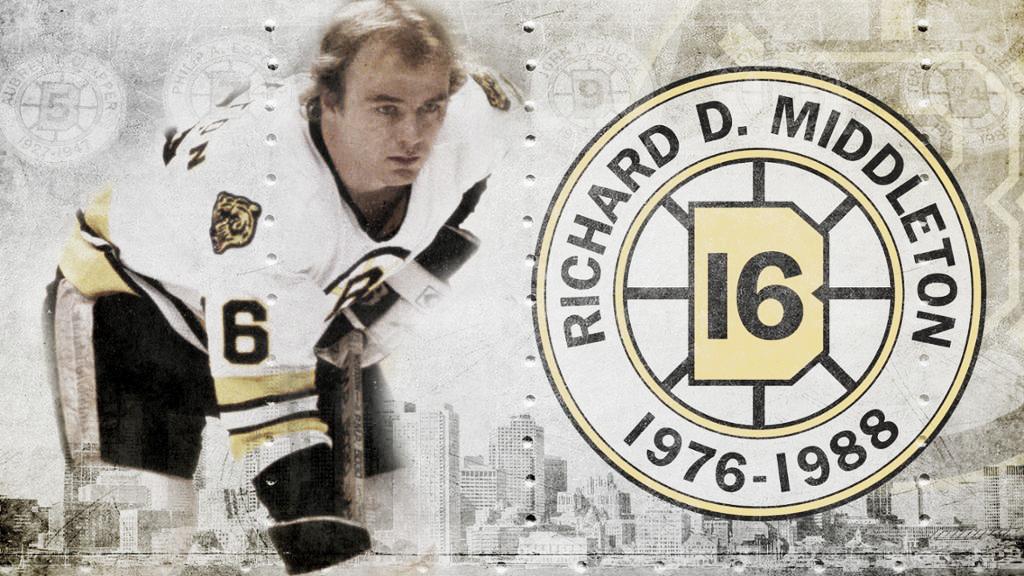 Los Bruins retiraron el dorsal nº16 de Middleton