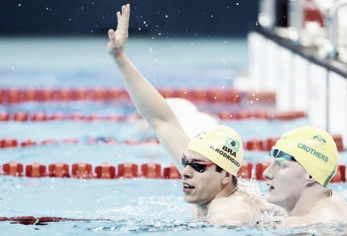 Brasil leva duas pratas no segundo dia da natação