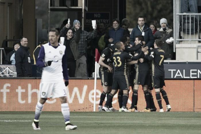 Tranquillo Barnetta's Stunning Free Kick Leads Philadelphia Union to Win over Orlando City, 2-1