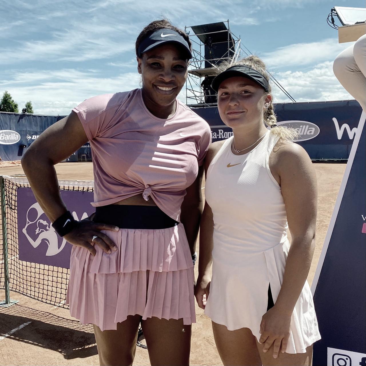 """Serena vence """"fã"""" Pigato na estreia do WTA 250 de Parma"""