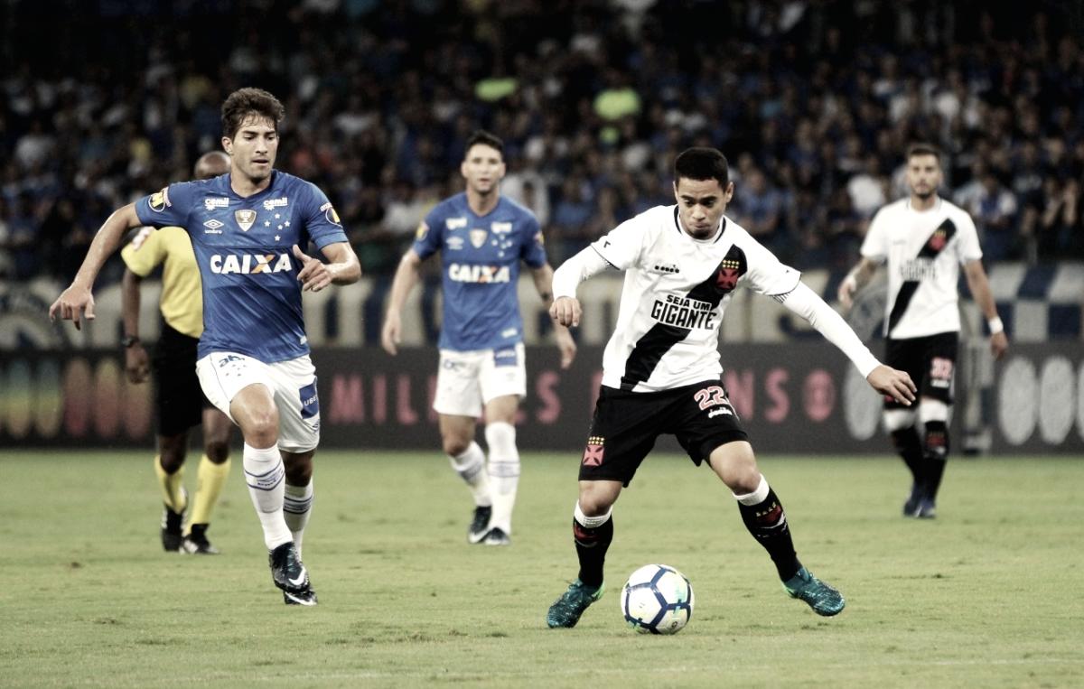 """Após empate diante do Cruzeiro, Pikachu não subestima Vasco: """"Temos condições de fazer mais"""""""