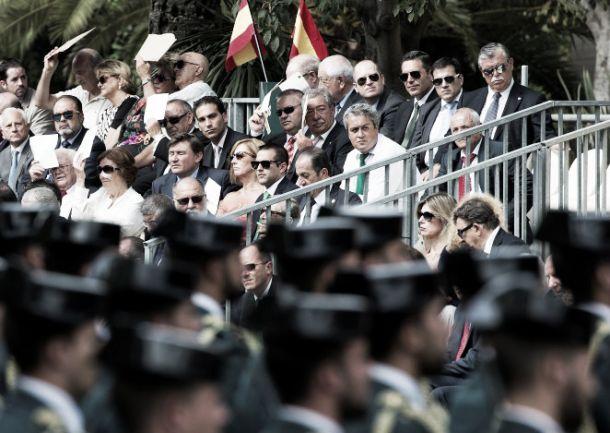 El Málaga CF, presente en los actos de la festividad del Pilar