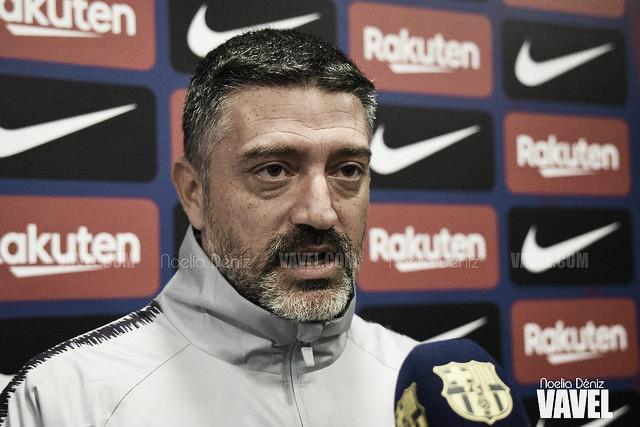 """García Pimienta: """"El fútbol hoy ha sido justo con el Barça B"""""""
