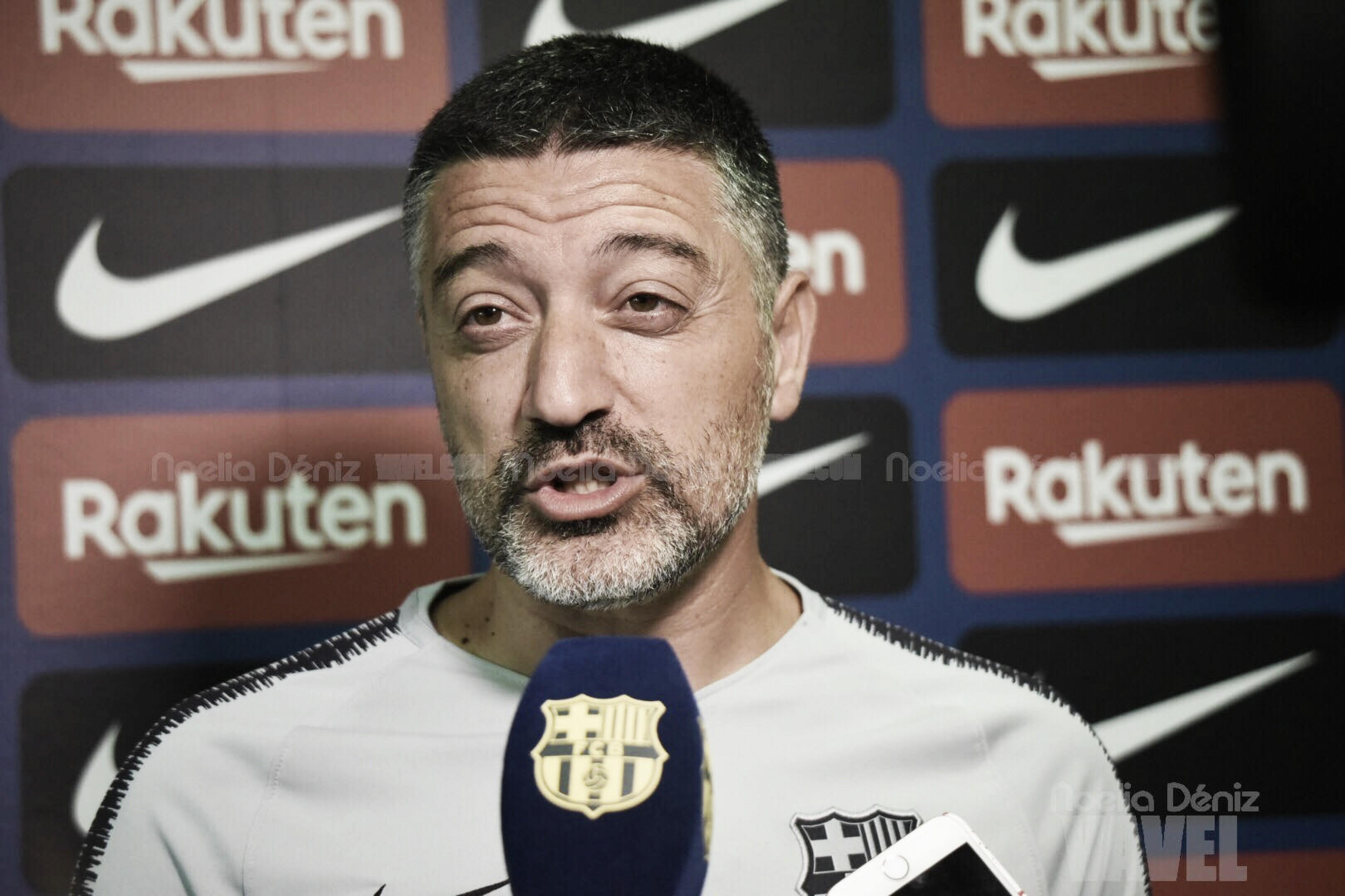 """García Pimienta: """"Esperamos terminar el partido con seis puntos"""""""