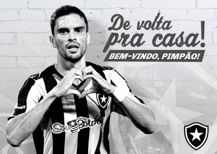Botafogo anuncia retorno do atacante Rodrigo Pimpão para disputa da Série A