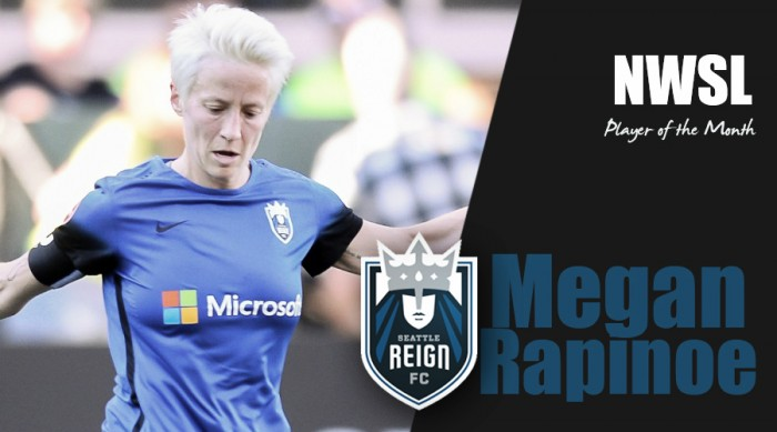 Seattle Reign FC's Megan Rapinoe named NWSL Player of the Month for July