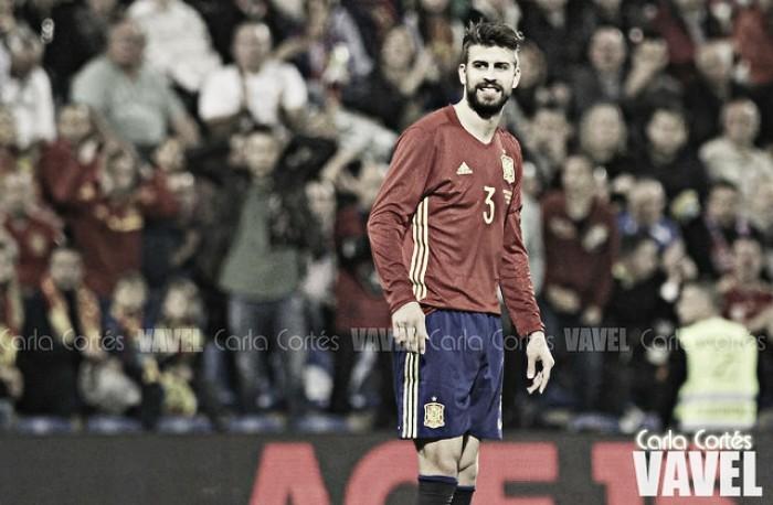 """Piqué: """"Estoy orgulloso de jugar en la selección"""""""