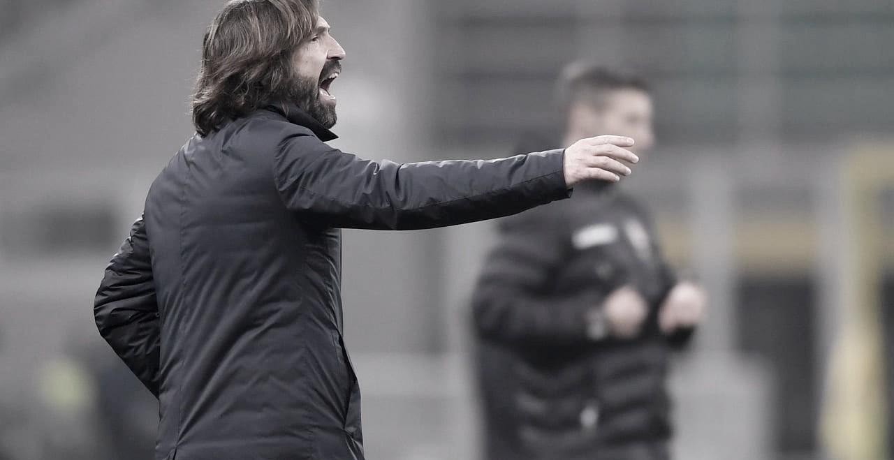 """Andrea Pirlo elogia vitória da Juventus, mas mantém pés no chão: """"Ainda não temos nada ganho"""""""