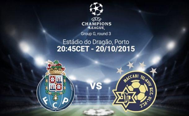 Porto recebe Maccabi Telavive com apuramento à mão de semear