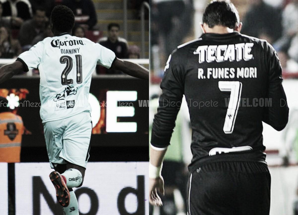 Djaniny y Funes Mori, los responsables del gol