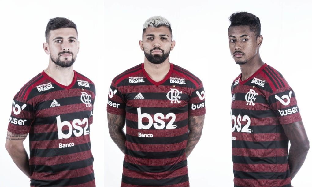 Trio ABG do Flamengo é o segundo melhor ataque do Brasileirão 2019