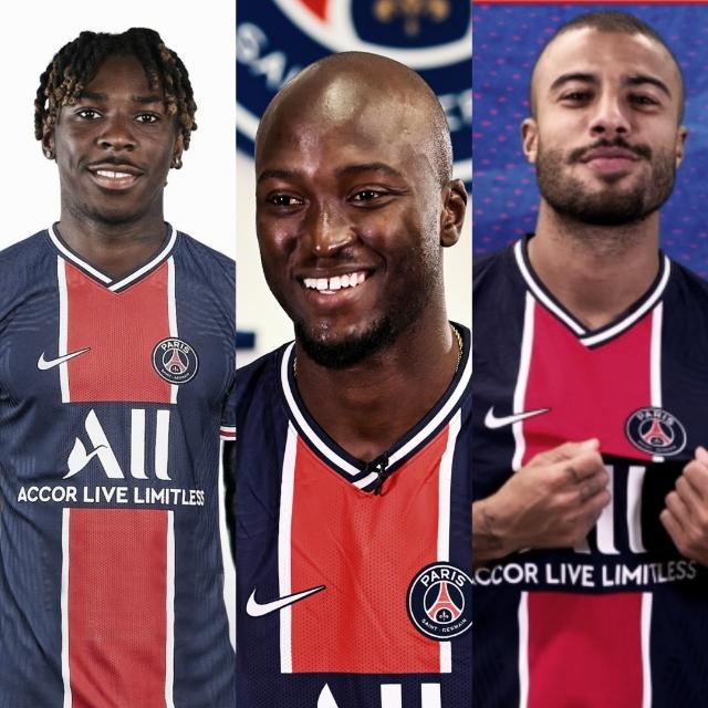 Los tres nuevos integrantes del PSG / FOTO. Montaje propio