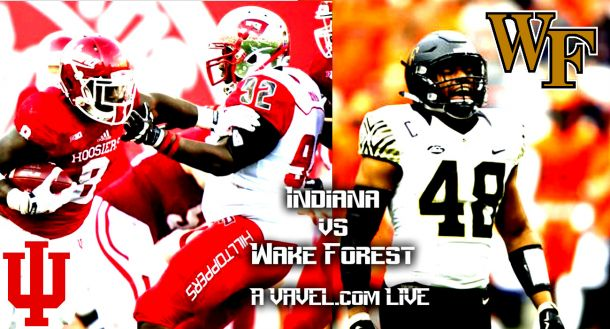 Indiana hoosiers wake forest demon deacons score and result of 2015