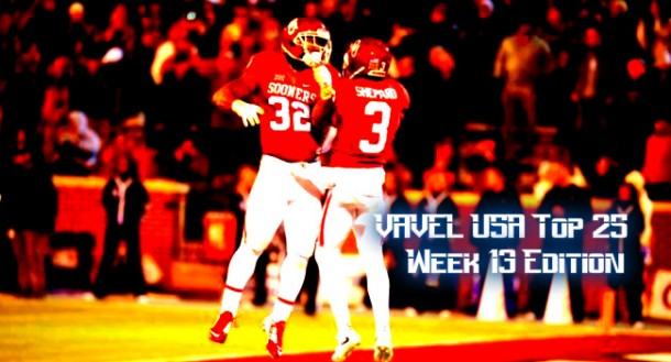VAVEL USA NCAA Football Week 13 Top 25 Rankings