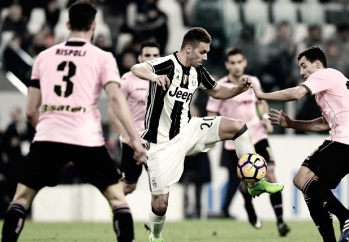 Juventus-Palermo: l'analisi. Allegri cambia spesso, Pjaca intermittente e un po' fuori dal gioco, Marchisio rinato.