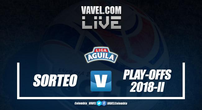 Resumen del sorteo de los play-offs de la Liga Águila 2018-II