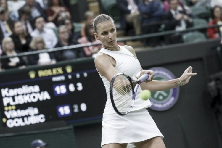 Pliskova domina surpreendente Golubic e avança às semis em Wimbledon