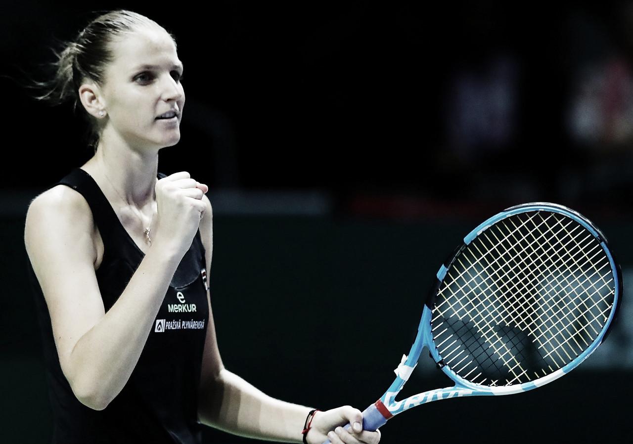 Pliskova vence Kvitova e é primeira classificada às semis do WTA Finals