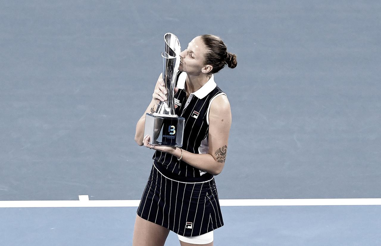 Pliskova derrota Keys e se torna a maior campeã do WTA de Brisbane