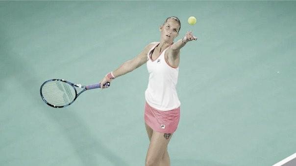 Com dificuldade, Pliskova confirma favoritismo contra Papamichail em Abu Dhabi