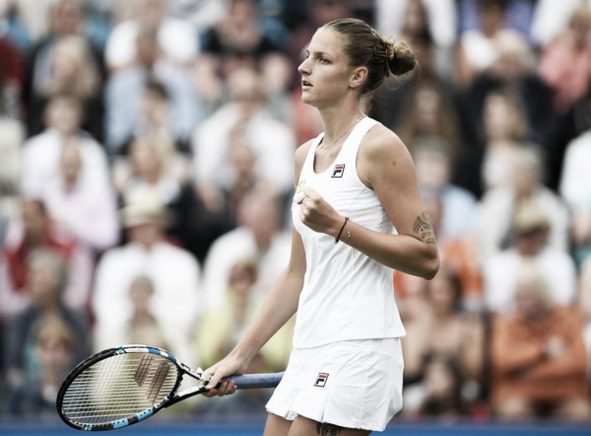 Wimbledon: 7th seed Karolina Pliskova suffers a huge scare in tough opener