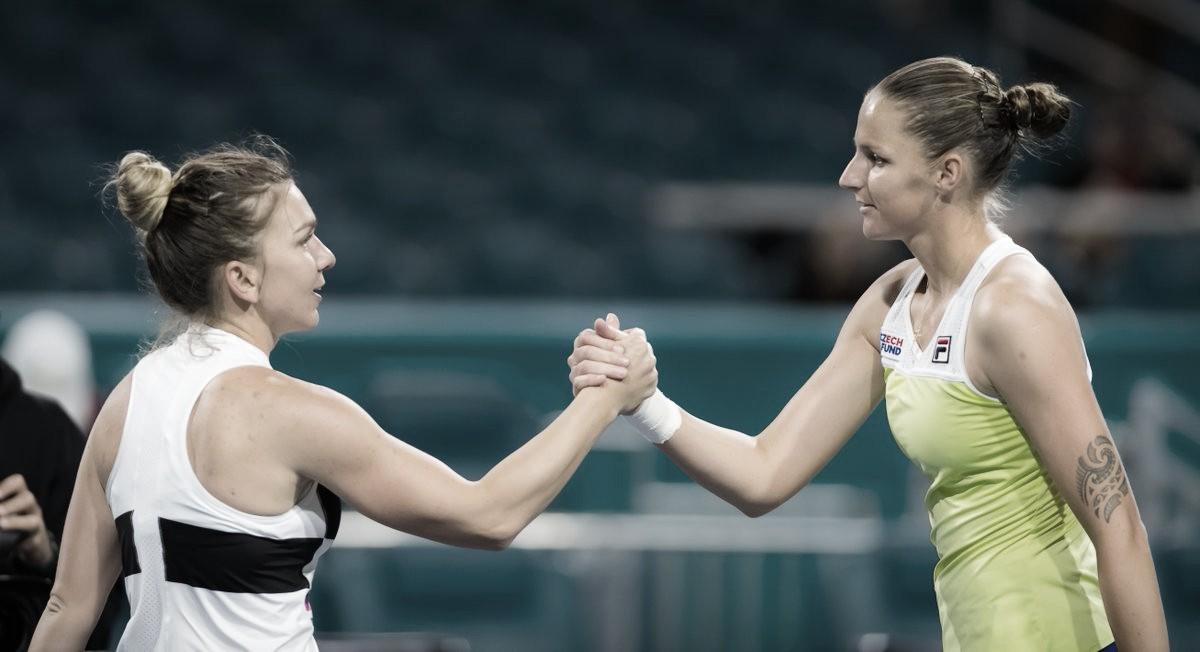 Em duelo de ex-melhores do mundo, Pliskova bate Halep e chega à final em Miami